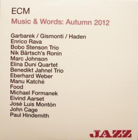 ECM music & words autumn 2012
