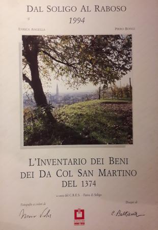L'Inventario dei beni dei Da Col San Martino del 1374