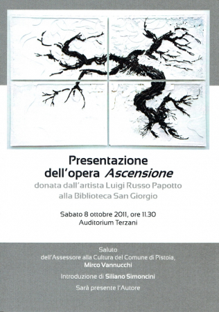 Presentazione dell'opera Ascensione donata dall'artista Luigi Russo Papotto alla Biblioteca San Giorgio