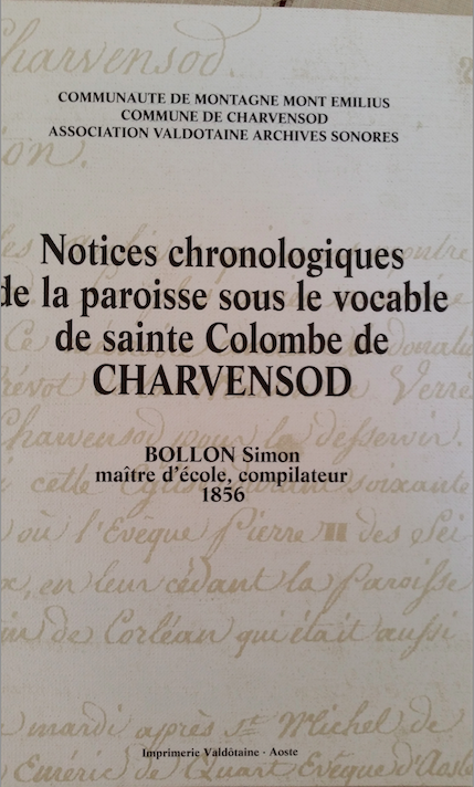 Notices chronologiques de la paroisse sous le vocable de Sainte Colombe de Charvensod