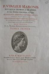 P. Virgilii Maronis Bucolica Georgica et Æneis ex cod. mediceo-laurentiano descripta ab Antonio Ambrogi florentino s. j. italico versu reddita ... Tomus primus [-tertius]. 1