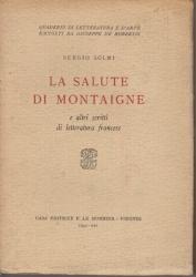 La salute di Montaigne e altri scritti di letteratura francese