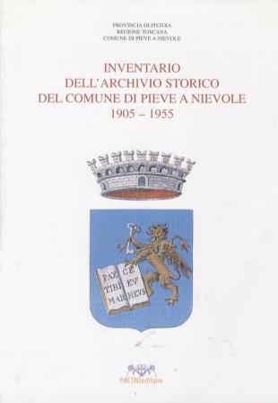 Inventario dell'archivio storico del Comune di Pieve a Nievole