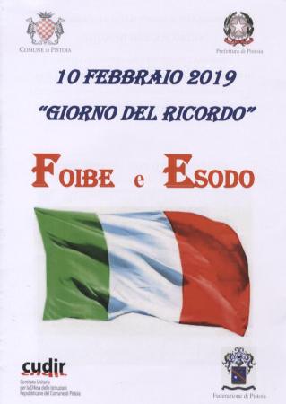 """10 febbraio 2019 """"Giorno del ricordo"""""""