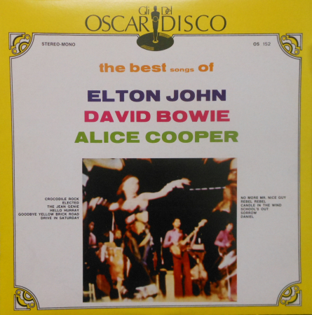 The best songs of Elton John, David Bowie, Alice Cooper