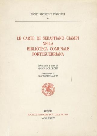 Le carte di Sebastiano Ciampi nella Biblioteca comunale Forteguerriana