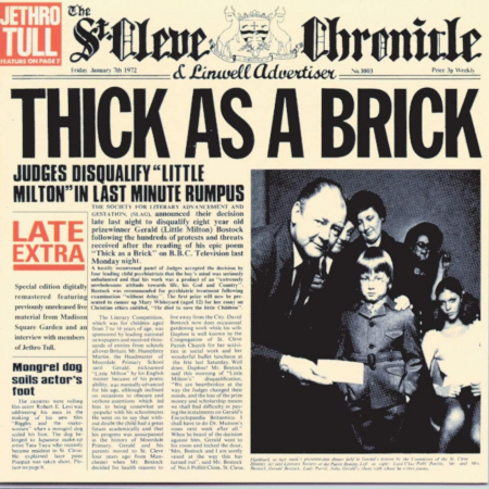 Thick as a brick [Audioregistrazione]