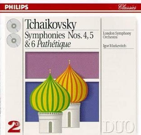 """Symphonies Nos.4, 5 & 6 """"Pathètique"""" [Audioregistrazione]"""