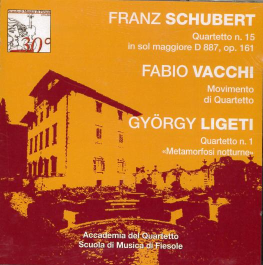Quartetto n.15 in sol maggiore D 887, op. 161 [Audioregistrazione]